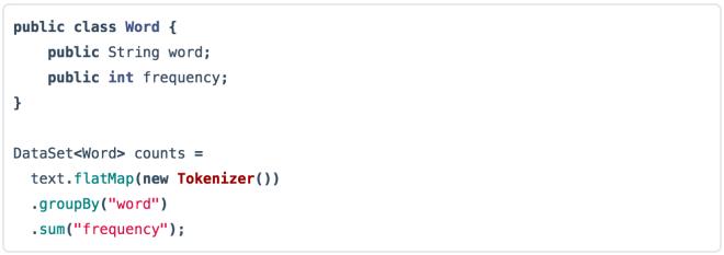 WordCount in the (batch) DataSet API