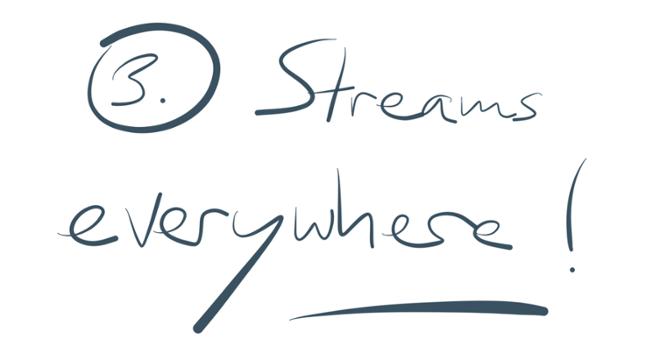 Reason 3: Streams everywhere!