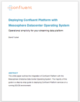 Deploying Confluent Platform with Mesosphere Datacenter Operating System