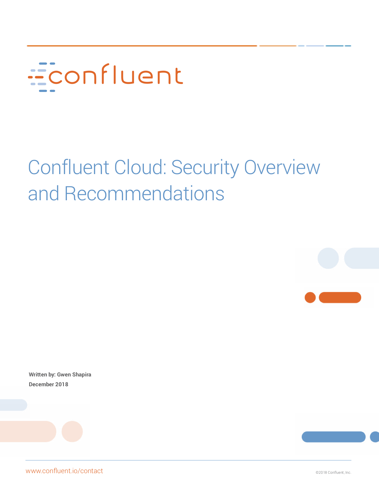 Confluent Cloud: Security Overview and Recommendations