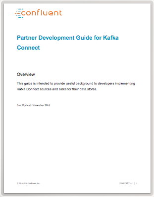 Partner Development Guide for Kafka Connect