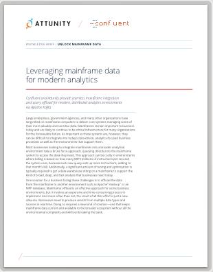 Confluent & Attunity: Leveraging Mainframe Data for Modern Analytics