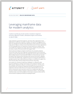 Confluent & Attunity: Leveraging Mainframe Data for Modern Analytics