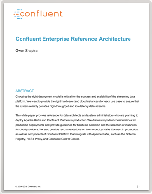 Confluent Enterprise Reference Architecture
