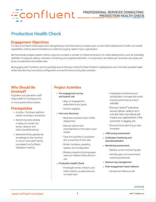 Production Health Check