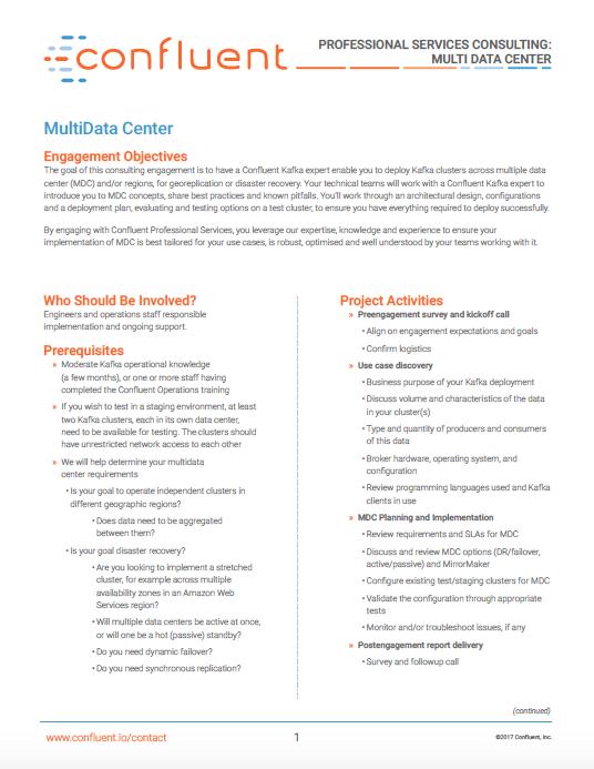 Professional Services: Multi-Datacenter