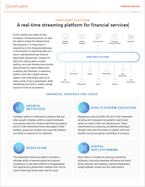 A Real-Time Streaming Platform for Financial Services