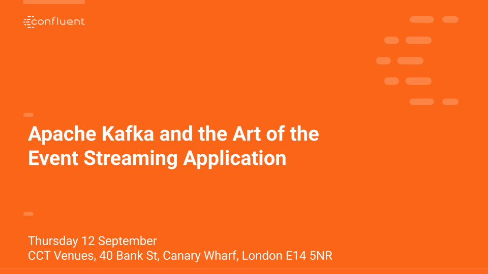 Apache Kafka and the Art of the Event Streaming Application