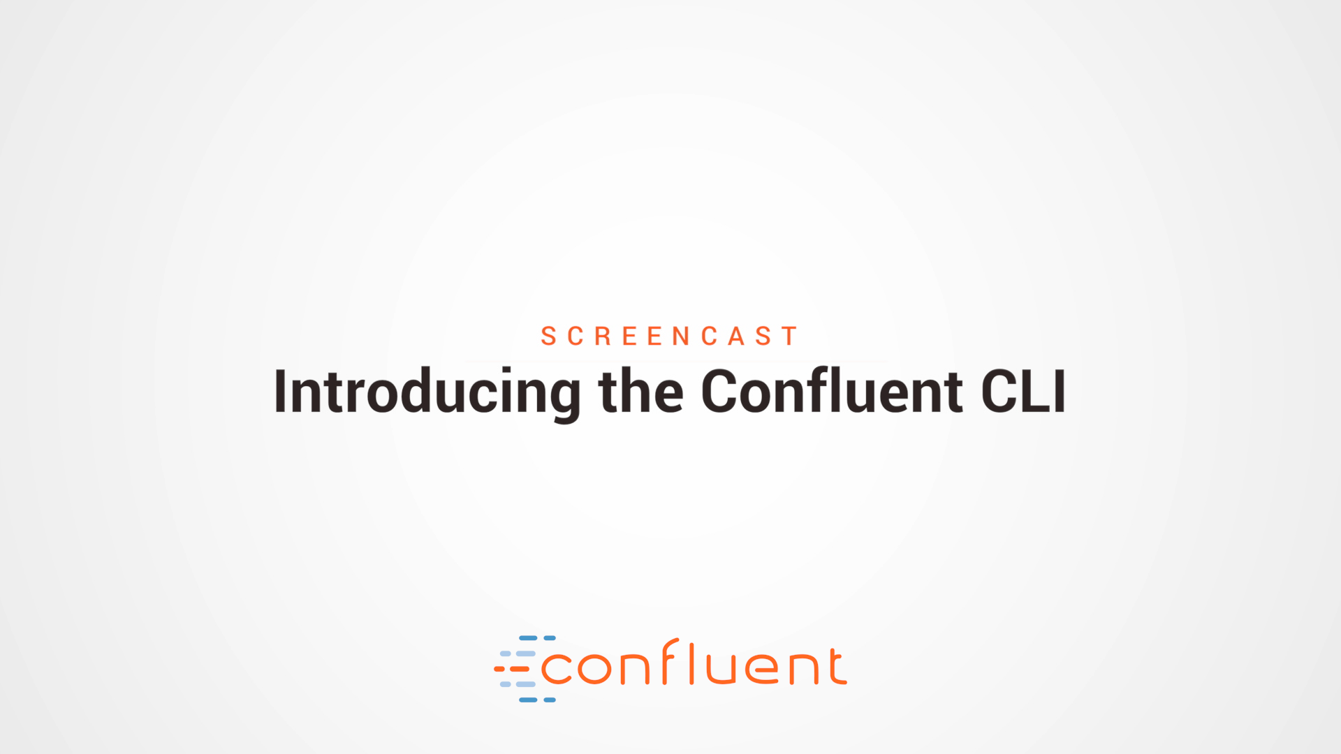 Introducing the Confluent CLI