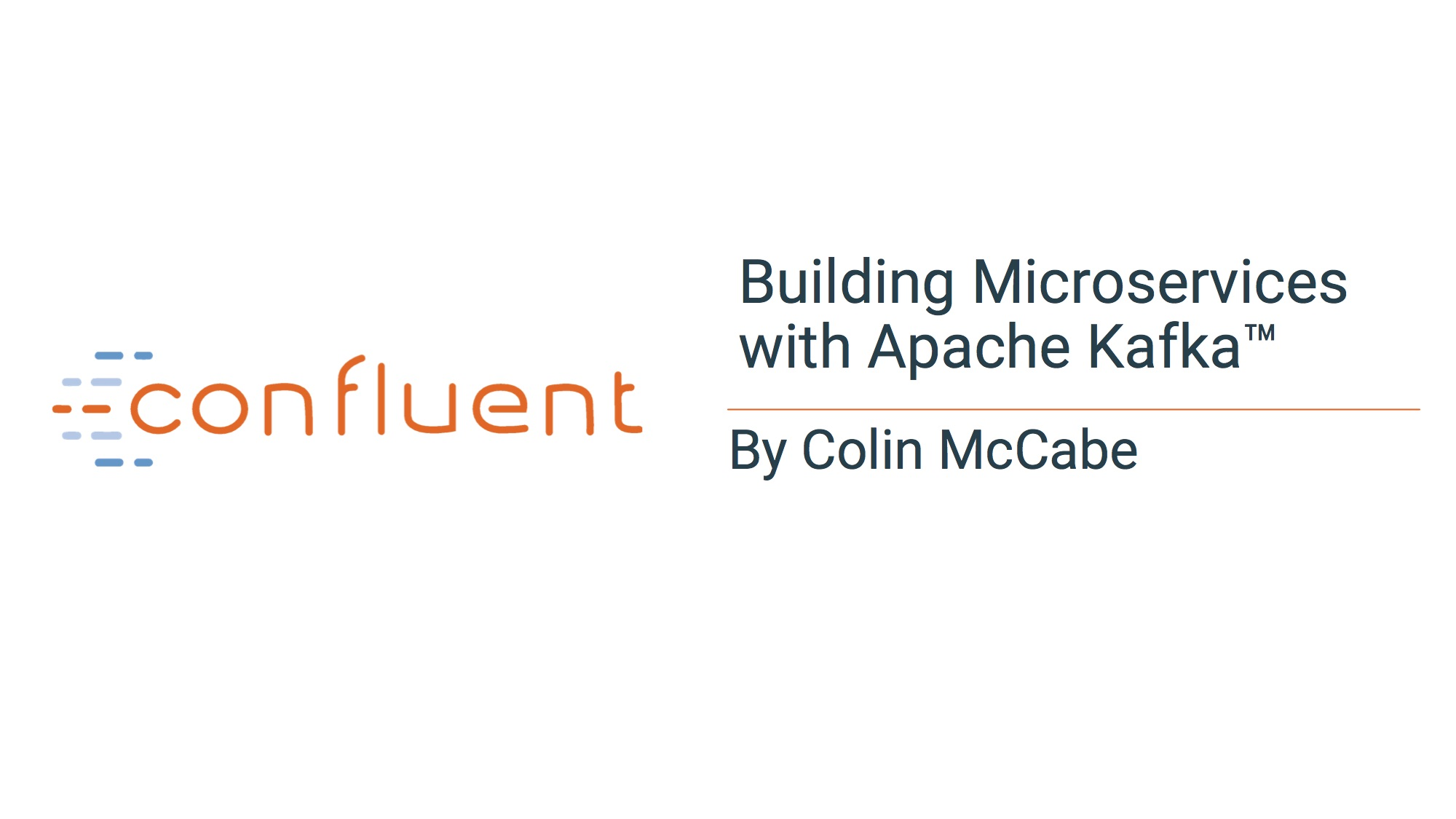 Building Microservices with Apache Kafka<sup>®</sup>